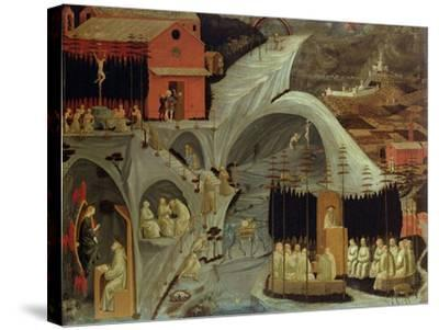 The Thebaid, c.1460-Paolo Uccello-Stretched Canvas Print