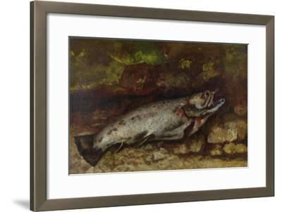 The Trout, 1873-Gustave Courbet-Framed Giclee Print