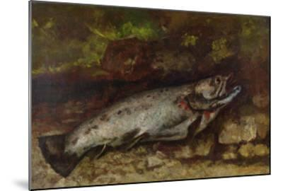 The Trout, 1873-Gustave Courbet-Mounted Giclee Print