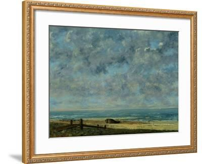 The Sea, c.1872-Gustave Courbet-Framed Giclee Print