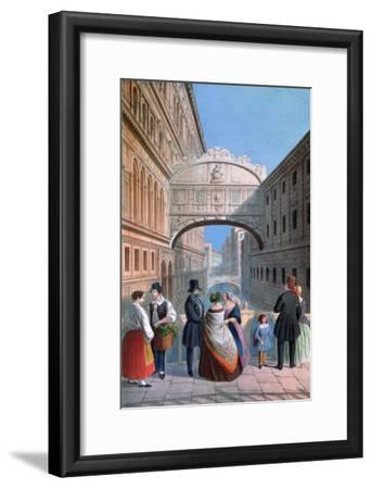 The Bridge of Sighs, Venice, Engraved by Brizeghel-Marco Moro-Framed Giclee Print