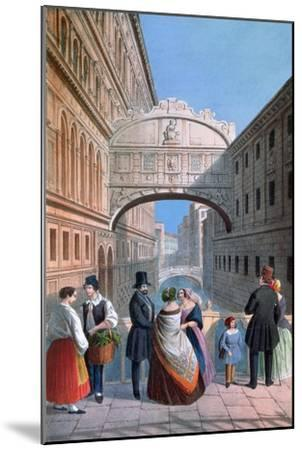 The Bridge of Sighs, Venice, Engraved by Brizeghel-Marco Moro-Mounted Giclee Print
