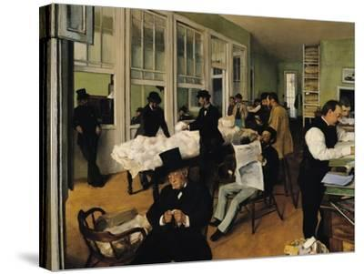 The Cotton Exchange, New Orleans, 1873-Edgar Degas-Stretched Canvas Print