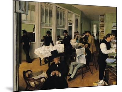 The Cotton Exchange, New Orleans, 1873-Edgar Degas-Mounted Giclee Print