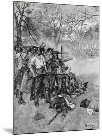 Lexington Green, Harper's Magazine, c.1883-Howard Pyle-Mounted Giclee Print