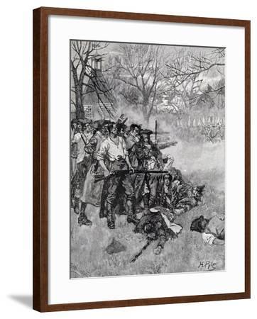 Lexington Green, Harper's Magazine, c.1883-Howard Pyle-Framed Giclee Print