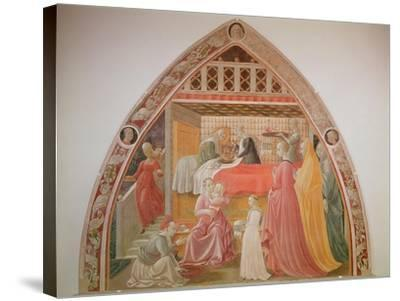 Birth of the Virgin, Cycle of the Lives of the Virgin and St. Stephen, Cappella Dell'Assunta-Paolo Uccello-Stretched Canvas Print