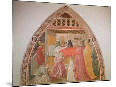 Birth of the Virgin, Cycle of the Lives of the Virgin and St. Stephen, Cappella Dell'Assunta-Paolo Uccello-Mounted Giclee Print