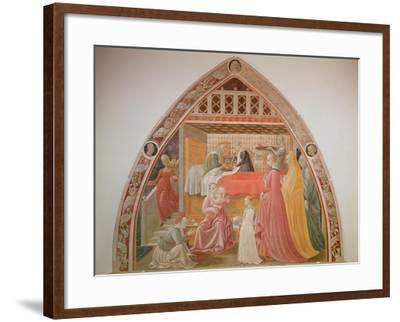Birth of the Virgin, Cycle of the Lives of the Virgin and St. Stephen, Cappella Dell'Assunta-Paolo Uccello-Framed Giclee Print