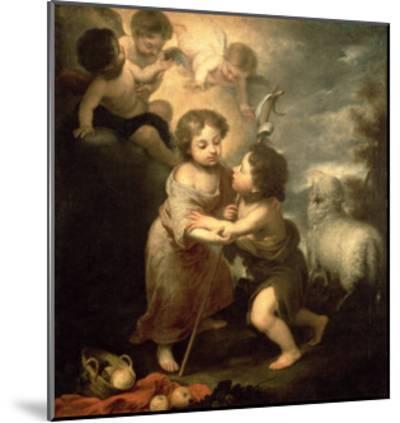 The Infants Christ and John the Baptist-Bartolome Esteban Murillo-Mounted Giclee Print