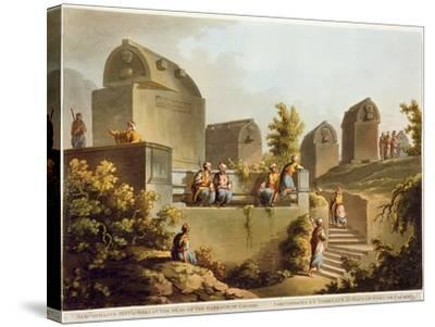 Sarcophagi and Sepulchres, at Harbour at Cacamo, Views in the Ottoman Empire, Published Bowyer-Luigi Mayer-Stretched Canvas Print