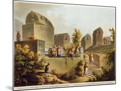 Sarcophagi and Sepulchres, at Harbour at Cacamo, Views in the Ottoman Empire, Published Bowyer-Luigi Mayer-Mounted Giclee Print