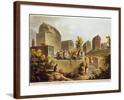 Sarcophagi and Sepulchres, at Harbour at Cacamo, Views in the Ottoman Empire, Published Bowyer-Luigi Mayer-Framed Giclee Print