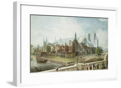 Westminster Hall and Abbey, Engraved by Daniel Havell-John Gendall-Framed Giclee Print