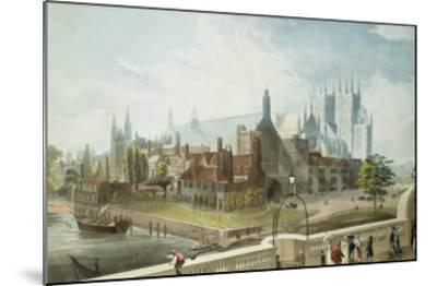 Westminster Hall and Abbey, Engraved by Daniel Havell-John Gendall-Mounted Giclee Print