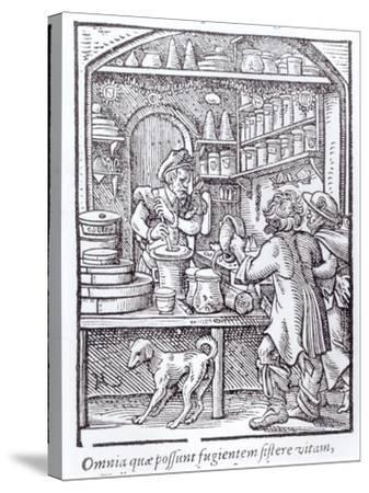 The Apothecary, Published by Hartman Schopper--Stretched Canvas Print
