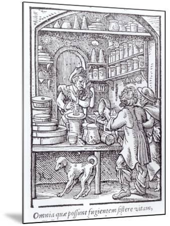 The Apothecary, Published by Hartman Schopper--Mounted Giclee Print