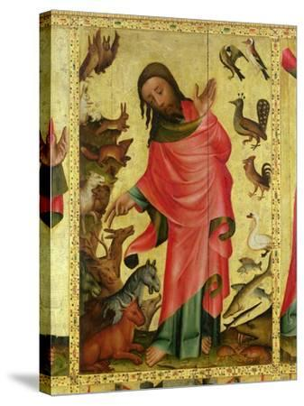 The Creation of the Animals, Detail from the Grabow Altarpiece, 1379-83-Master Bertram of Minden-Stretched Canvas Print