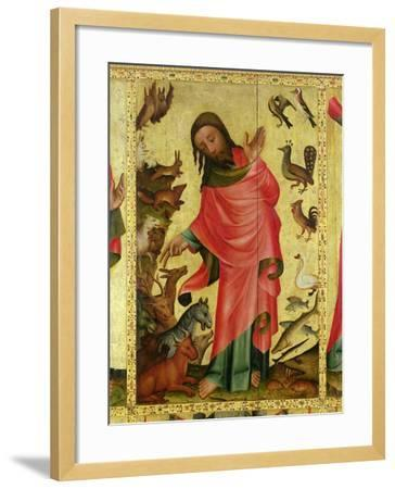 The Creation of the Animals, Detail from the Grabow Altarpiece, 1379-83-Master Bertram of Minden-Framed Giclee Print