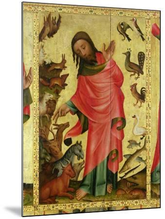 The Creation of the Animals, Detail from the Grabow Altarpiece, 1379-83-Master Bertram of Minden-Mounted Giclee Print