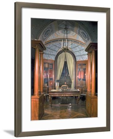 Napoleon Bonaparte's Study, c.1800-Charles Percier-Framed Giclee Print