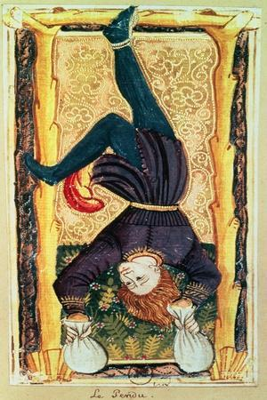 The Hanged Man, Tarot Card from the Charles VI or Gringonneur Deck--Stretched Canvas Print
