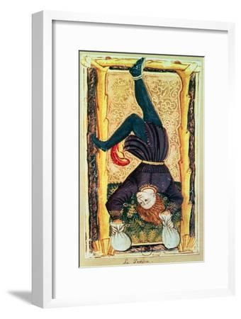 The Hanged Man, Tarot Card from the Charles VI or Gringonneur Deck--Framed Giclee Print