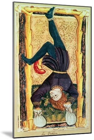 The Hanged Man, Tarot Card from the Charles VI or Gringonneur Deck--Mounted Giclee Print