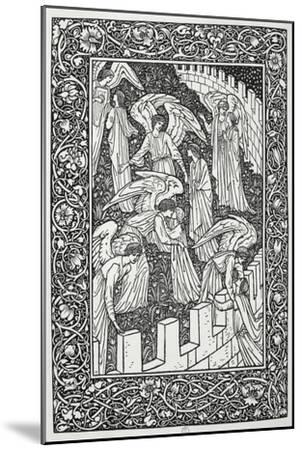 Angels Behind the Inner Sanctuary, from The Kelmscott Chaucer, Published by Kelmscott Press, 1896-William Morris-Mounted Premium Giclee Print