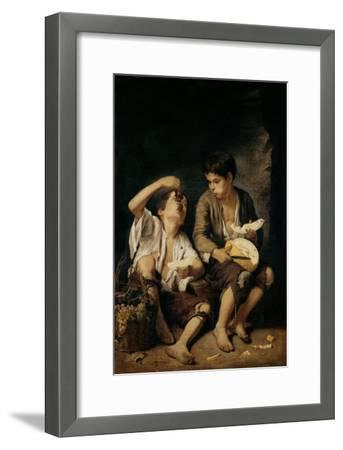 Two Children Eating a Melon and Grapes, 1645-46-Bartolome Esteban Murillo-Framed Giclee Print