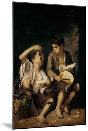Two Children Eating a Melon and Grapes, 1645-46-Bartolome Esteban Murillo-Mounted Giclee Print