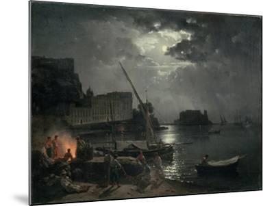 View of Naples in Moonlight, 1829-Silvestr Fedosievich Shchedrin-Mounted Giclee Print