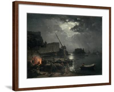 View of Naples in Moonlight, 1829-Silvestr Fedosievich Shchedrin-Framed Giclee Print