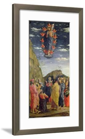 The Ascension, Left Hand Panel from the Altarpiece, c.1466-Andrea Mantegna-Framed Giclee Print