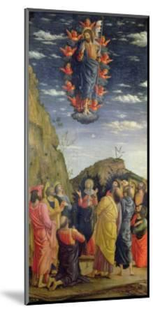 The Ascension, Left Hand Panel from the Altarpiece, c.1466-Andrea Mantegna-Mounted Giclee Print