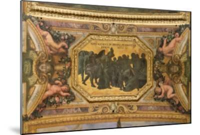 Helping the People During the Famine of 1662, Ceiling Painting from the Galerie Des Glaces-Charles Le Brun-Mounted Giclee Print