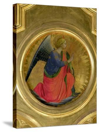 The Angel of the Annunciation, Altarpiece, Church of San Domenico in Perugia-Fra Angelico-Stretched Canvas Print