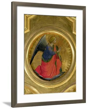 The Angel of the Annunciation, Altarpiece, Church of San Domenico in Perugia-Fra Angelico-Framed Giclee Print
