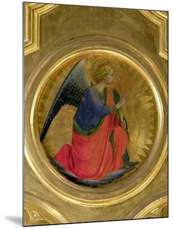 The Angel of the Annunciation, Altarpiece, Church of San Domenico in Perugia-Fra Angelico-Mounted Giclee Print