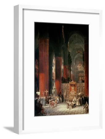Procession in Seville Cathedral, 1833-David Roberts-Framed Giclee Print