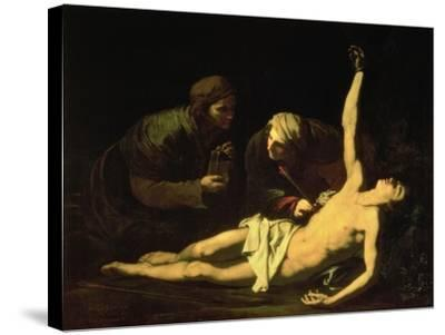 Saint Sebastian Attended by Saint Irene, 1628-Jusepe de Ribera-Stretched Canvas Print