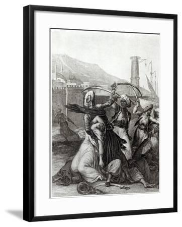 My Captain Kept Me Concealed Behind Him, and Cut Down Everyone Who Opposed Him, Candide Voltaire-Jean-Michel Moreau the Younger-Framed Giclee Print