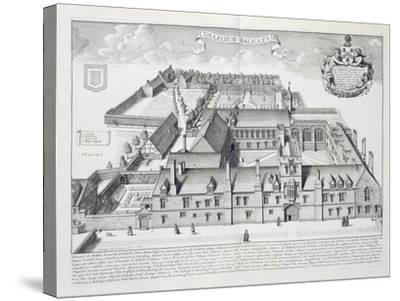 Balliol College, Oxford, from Oxonia Illustrata, Published 1675-David Loggan-Stretched Canvas Print
