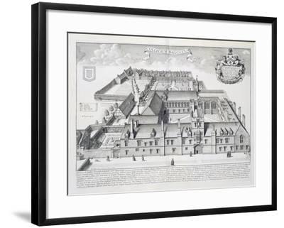 Balliol College, Oxford, from Oxonia Illustrata, Published 1675-David Loggan-Framed Giclee Print
