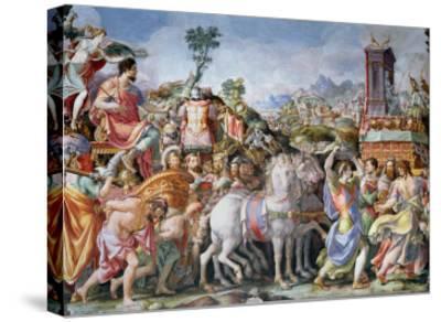The Triumph of Marcus Furius Camillus-Francesco Salviati-Stretched Canvas Print