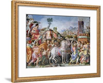 The Triumph of Marcus Furius Camillus-Francesco Salviati-Framed Giclee Print