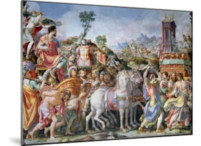 The Triumph of Marcus Furius Camillus-Francesco Salviati-Mounted Giclee Print