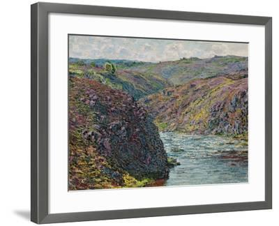 Ravines of the Creuse at the End of the Day, 1889-Claude Monet-Framed Giclee Print