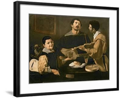 Three Musicians, 1618-Diego Velazquez-Framed Giclee Print