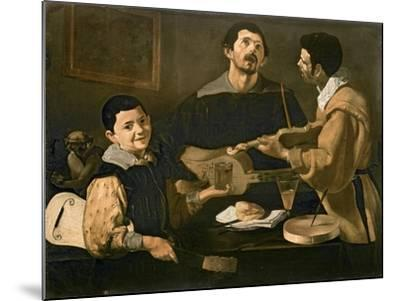 Three Musicians, 1618-Diego Velazquez-Mounted Giclee Print